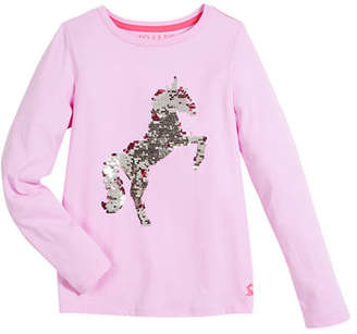 Joules Reversible Sequin Long-Sleeve Tee, Size 3-10