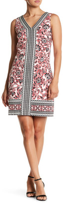 Maggy London Scroll Flower Shift Dress $118 thestylecure.com