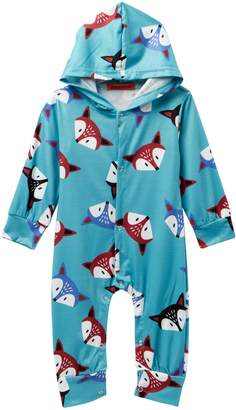 Funkyberry Hooded Fox Jumpsuit (Baby Girls)
