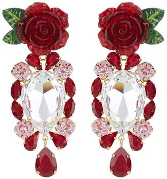Dolce & Gabbana Crystal Pendant Earrings