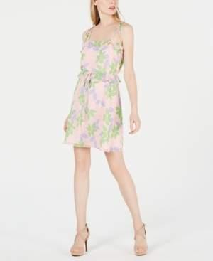 19 Cooper Square-Neck Printed A-Line Dress