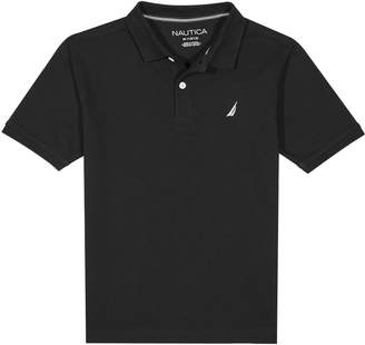 Nautica Little Boys' Short Sleeve Deck Polo with Stretch