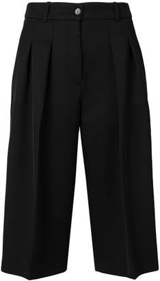 Jil Sander Navy wide leg bermuda shorts