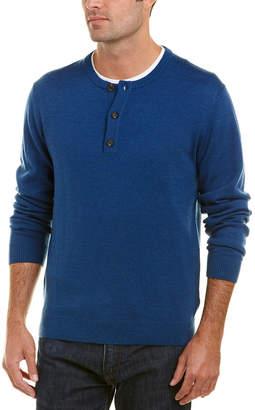 Qi Merino Wool Henley Sweater
