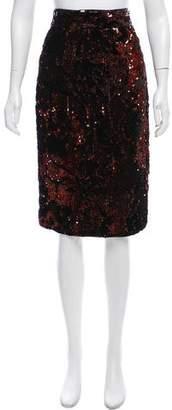 Milly Sequin Embellished Velvet Skirt w/ Tags