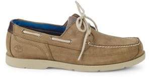 Timberland Piper Cove Moc-Toe Leather Boat Shoes