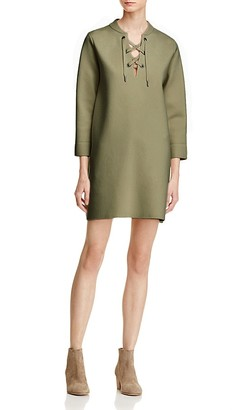 Theory Patrinelle Lace-Up Dress $435 thestylecure.com