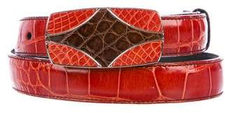 Prada Crocodile Waist Belt