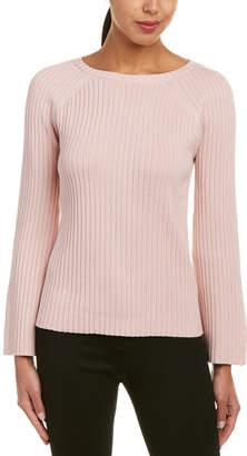Lafayette 148 New York Ribbed Silk-Blend Crew Sweater