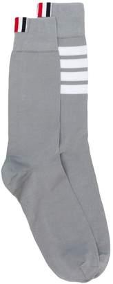 Thom Browne 4-bar mid-calf socks