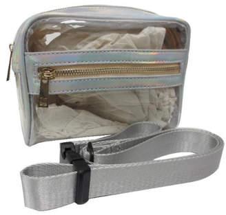 Sondra Roberts Clear Iridescent Trim Belt Bag