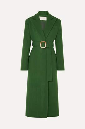 MATÉRIEL Belted Wool-blend Felt Coat - Forest green