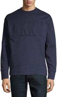 DKNY Fleece Logo Crew Neck Sweatshirt