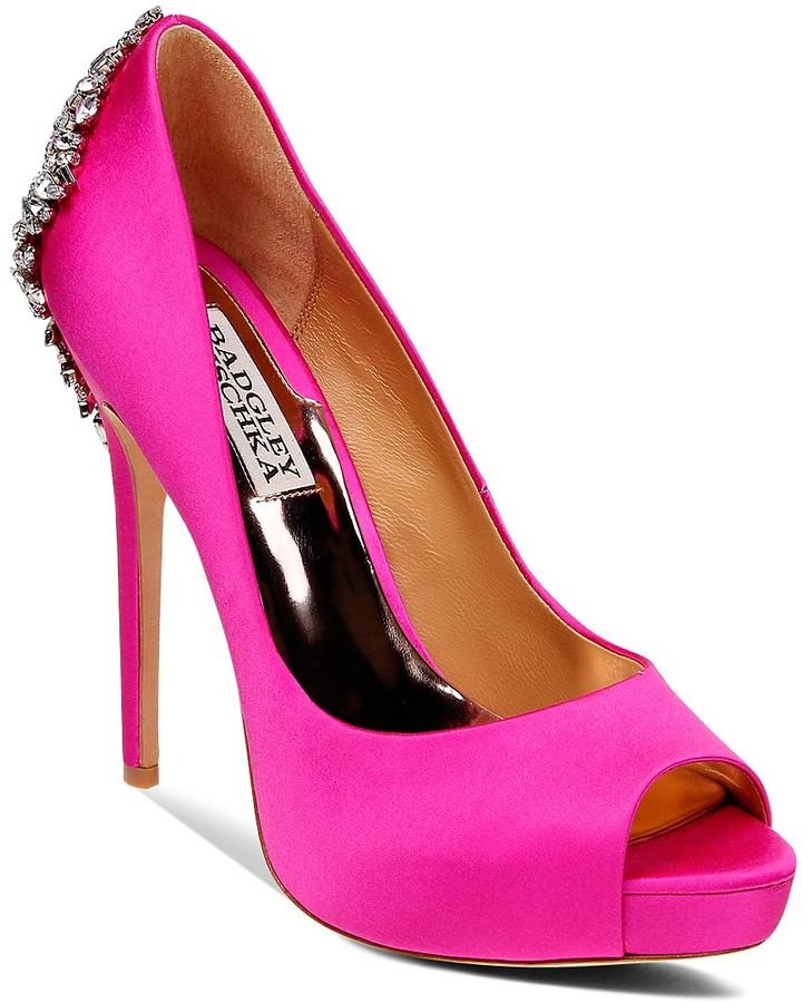 Pink Peep Toe Heels - ShopStyle Australia