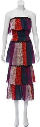 Sonia Rykiel Printed Maxi Dress Red Printed Maxi Dress