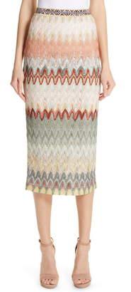 Missoni Zigzag Pointelle Pencil Skirt