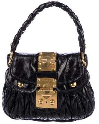 Miu Miu Matelassé Leather Handle Bag
