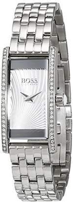 HUGO BOSS Ladies Cocktail Womens Quartz Silver Analogue Classic Silver Stainless Steel Bracelet 1502388