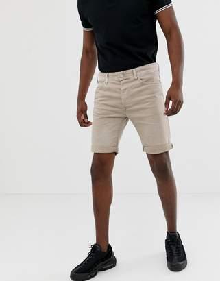 Replay 901 denim shorts in stone