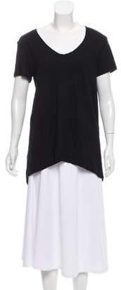 Wilt High-Low Short Sleeve Top