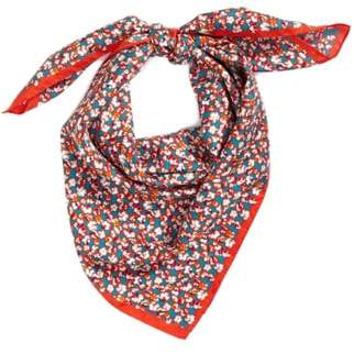 Tory Burch Carnation Silk Square Scarf
