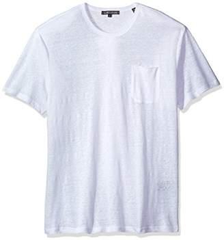 Slate & Stone Men's Adrien Short Sleeve Crewneck Linen Tee Shirt