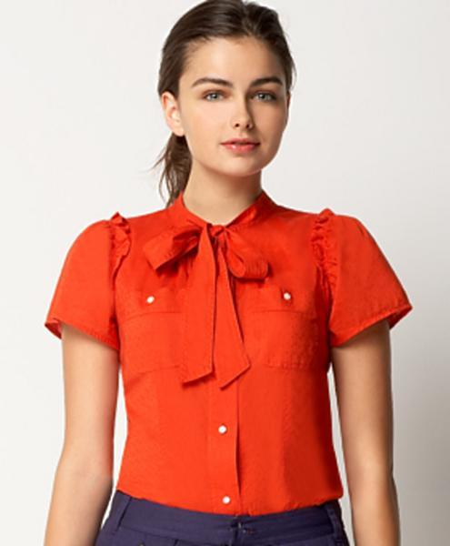 Marc by Marc Jacobs Tie-Front Pointelle Blouse