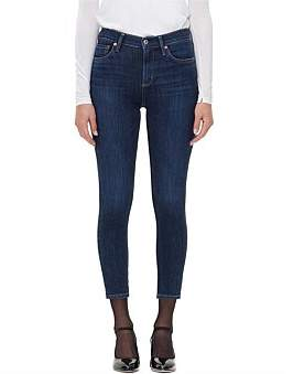A Gold E Agolde Sophie High Rise Skinny Crop