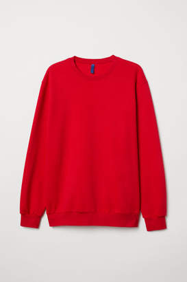 H&M Relaxed-fit Sweatshirt - Red