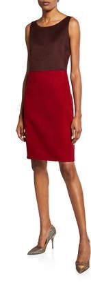 Akris Fitted Silk-Felt Dress