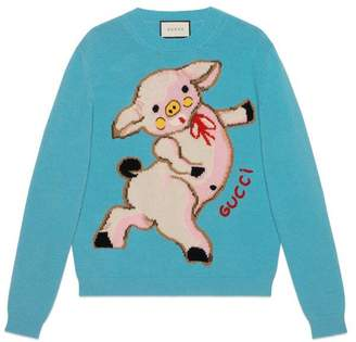 Gucci Women's wool sweater with piglet