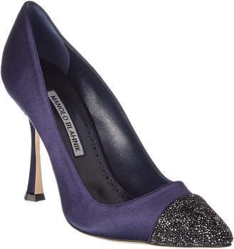 Manolo Blahnik Crystalbi 105 Satin Pump