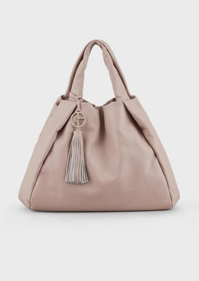 Giorgio Armani Leather Shopper With Inside Out Seams