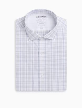 Calvin Klein x fit ultra slim fit blue white plaid dress shirt