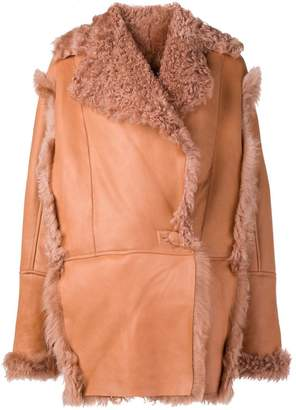 Drome short shearling coat