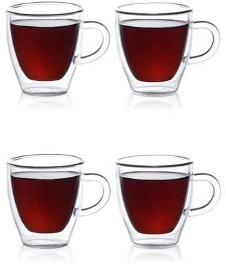 epare 2 oz. Double Wall Espresso Cups - Set of 4