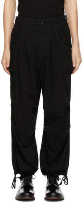 Yohji Yamamoto Black Water Repellent Cargo Pants