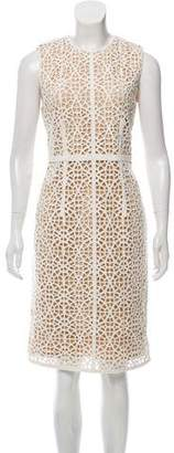 Kaufman Franco KAUFMANFRANCO Crochet Knee-Length Sheath Dress