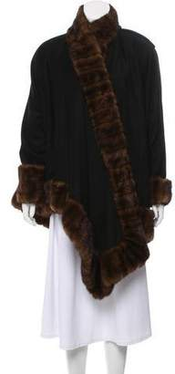 J. Mendel Wrap Fur-Trimmed Cape