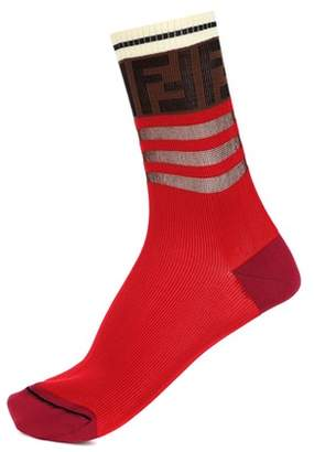 Fendi Logo cotton-blend socks