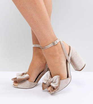 Asos Design HAMPTON Wide Fit Heeled Sandals