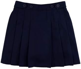 Chaps Girls 4-16 & Plus Pleated School Uniform Button-Accent Skort
