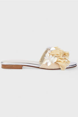 DELPOZO Embroidered Sandals