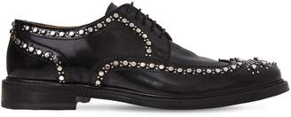 Clergerie Aroeloc Studded Leather Lace-Up Shoes