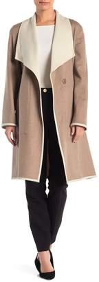 Sofia Cashmere Wool Blend Wrap Coat