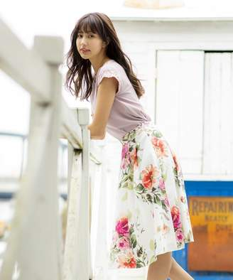 PATTERN fiona (パターンフィオナ) - PATTERN fiona 花柄タックミディスカート