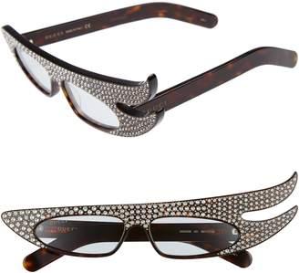 Gucci 56mm Embellished Statement Sunglasses