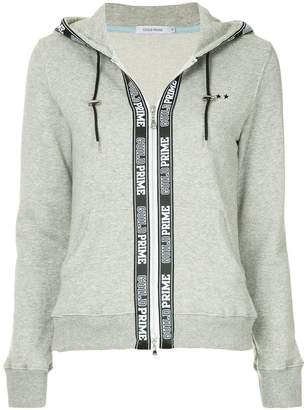 GUILD PRIME logo print zipped hoodie