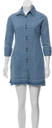 J Brand Denim Button-Up Dress