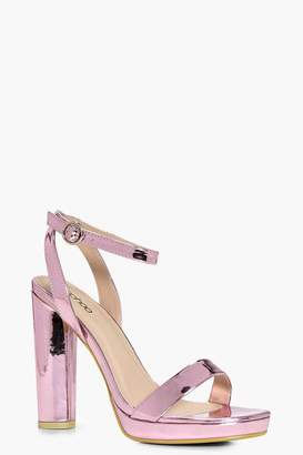 boohoo Platform Two Part Heels